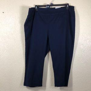 Croft&Barrow Pants Capri Navy Blue NWT 20W Regular